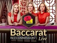 Evolution No Commission Baccarat